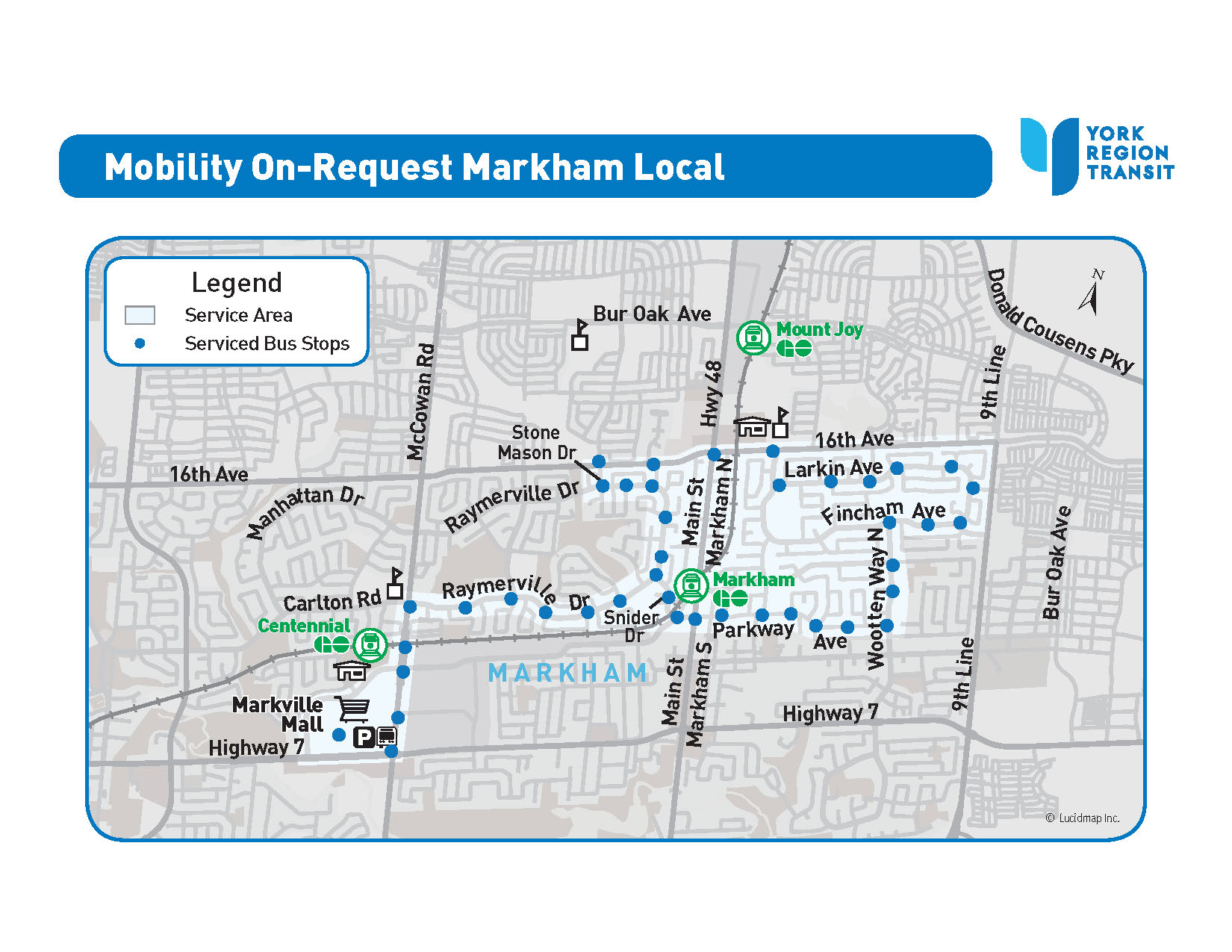MOR Markham Local service area map